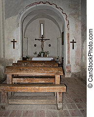 intérieur, moyen âge, chapelle