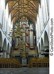 intérieur, orgue, église