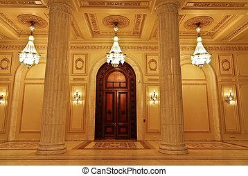 intérieur, parlement, -