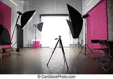 intérieur, photo, moderne, studio