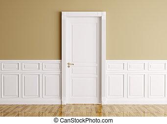 Maison bois int rieur porte d tail portes classique for Porte classique interieur