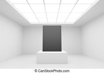 intérieur, résumé, blanc