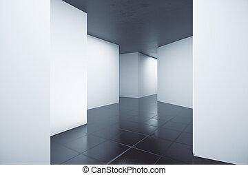 intérieur, résumé, clair, géométrique