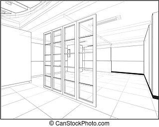 intérieur, résumé, construction