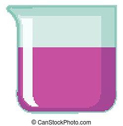 intérieur, rose, gobelet, chimique