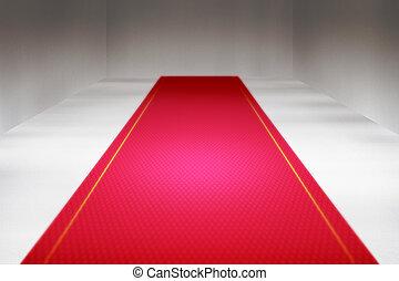 intérieur, rouges, toile de fond, moquette