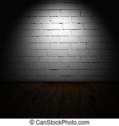 intérieur, salle, à, grunge, mur