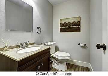 intérieur, salle bains, vanité, cabinet