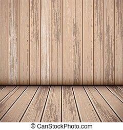 intérieur, salle, bois, scène