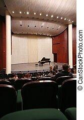 intérieur, salle concert