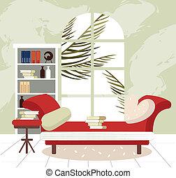 intérieur, salle de séjour, vide
