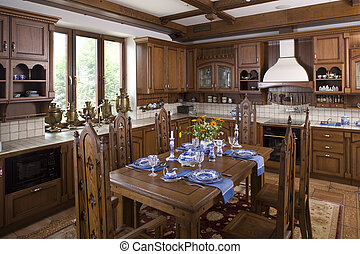 intérieur, salle, dinning