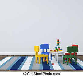 intérieur, salle jeux, kidsroom