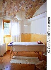 intérieur, salle, méditerranéen, masage, gentil