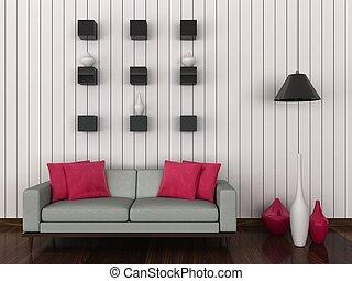 intérieur, salle moderne