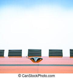 intérieur, salle réunion, moderne, bureau