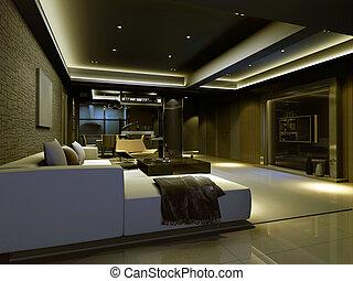 intérieur, salle séjour