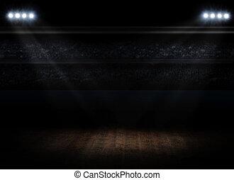 intérieur, salle, sports