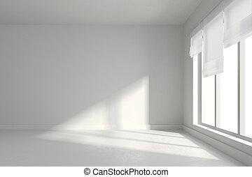 intérieur, salle vide, render, 3d