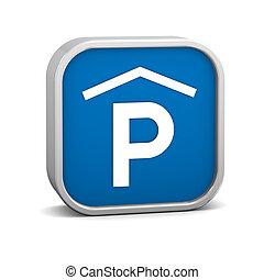 intérieur, signe parking