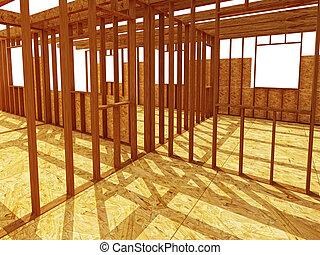 intérieur, site construction, od