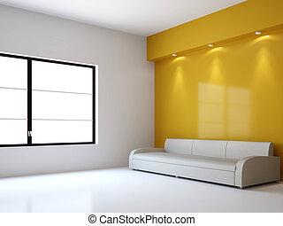 intérieur, sofa, salle