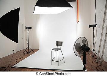intérieur, studio, photographique