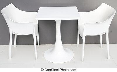 intérieur, table, moderne, café, chaises