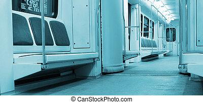 intérieur, train, moderne