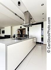 intérieur, urbain, appartement, -, cuisine
