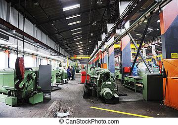intérieur, usine