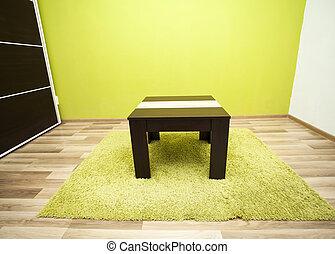 intérieur, vivant, vert, salle
