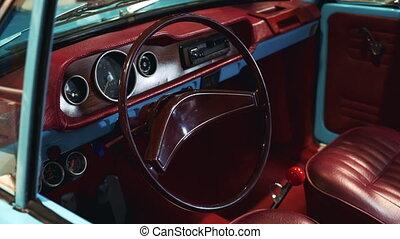 intérieur, voiture, bordeaux, vendange