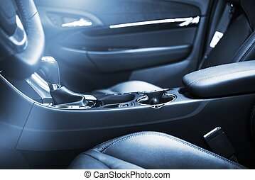intérieur, voiture, moderne, conception