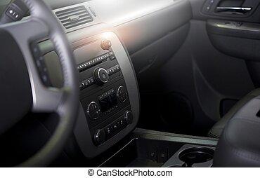 intérieur, voiture, moderne, propre