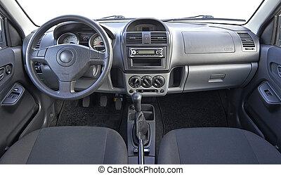intérieur, voiture, utilisé