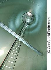 intérieur, windturbine, vue