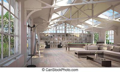 intérieurs, luxe, grenier