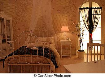 intérieurs maison, -, chambre à coucher
