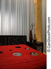 intérieurs maison, moderne, -, chambre à coucher