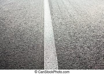 intacto, mancha de camino, línea, blanco