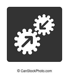 integração, ícone