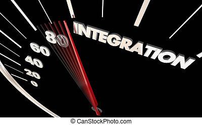 integração, car, veículo, automóvel, integrada, tech,...