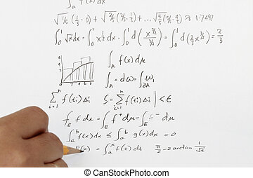Integral calculus and highier mathematics with equations.