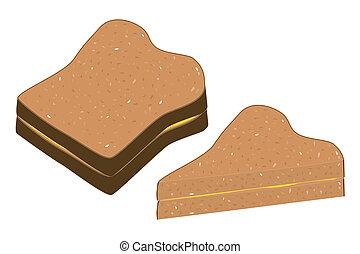 integrale, butter., bread