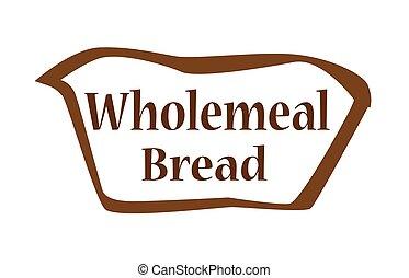 integrale, forma, contorno, bread