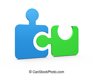 Integrated Puzzle Pieces - Colorful puzzle pieces integrated...