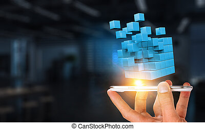 integratie, van, nieuw, technologieën
