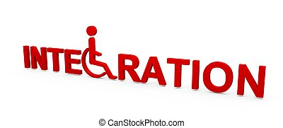 Integration of handicapped peoples in wheelchairs