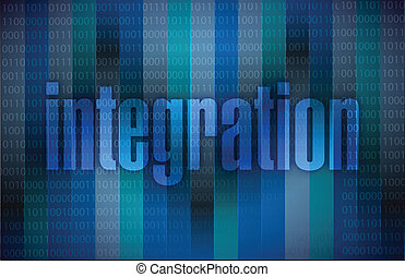 integration text illustration